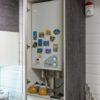 Угловая глянцевая кухня в стиле лофт в Калининграде
